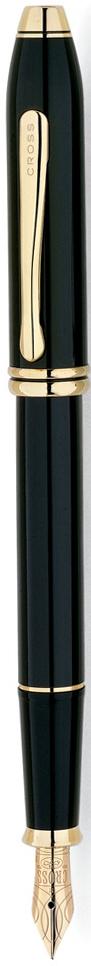 Ручка перьевая Cross Townsend, цвет чернил: черный, цвет корпуса: черный, перо F576-FDАмериканская компания CROSS – один из старейших брендов среди производителей пишущих инструментов и деловых аксессуаров. Компания была основана в 1846 году ювелиром Ричардом Кроссом и изначально специализировалась на производстве роскошных ручек из драгоценных металлов и ювелирных корпусов для карандашей, тисненных золотом и серебром. Ручка CROSS — это оригинальный утонченный подарок и неотъемлемый элемент стиля и роскоши. Каждая ручка CROSS имеет пожизненную механическую гарантию.Перьевая ручка Cross Townsend, Black Lacquer (Перо F) создана специально для ценителей роскоши.Перо: золото 18K. Корпус: многослойное лаковое покрытие. Отделка: позолота 23 карата. Особенности: чернильный баллончик, конвертер. Цвет: черный лак. Механизм: съемный колпачок.Цвет корпуса: Черный.Отделка элементов: золотой цвет. Толщина корпуса: стандартная.Перо: золото 18k. Страна: США.Толщина пишущего узла: f (тонкое).Названная в честь основателя компании Алонзо Таунсенда Кросса, коллекция Cross Townsend - настоящий шедевр. В ней гармонично сочетаются ювелирное мастерство и самые передовые технологии. Это драгоценность в ваших руках. Отличительная черта коллекции - широкий диаметр корпуса пишущих инструментов и опоясывающие его двойные кольца.