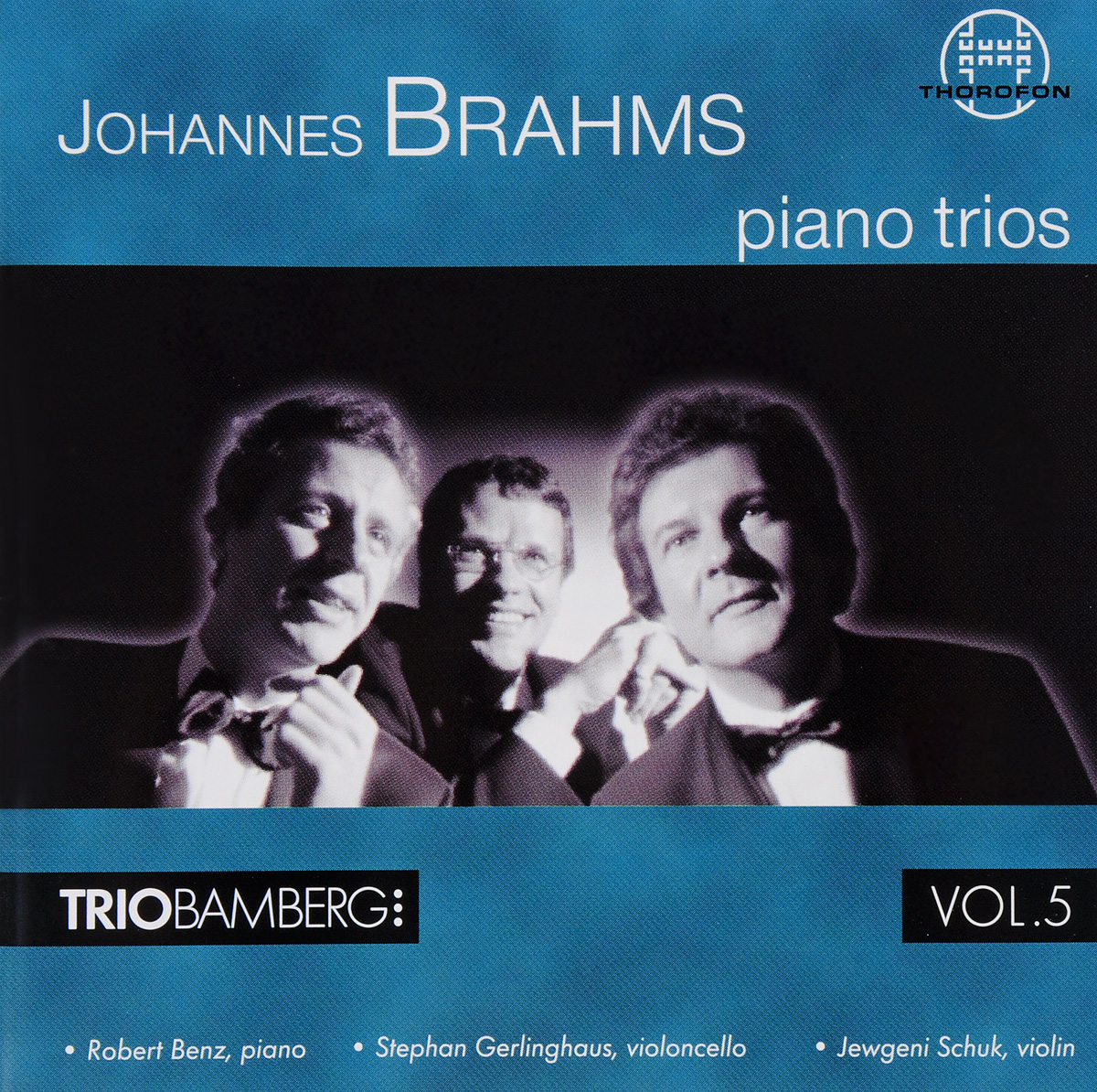 J. Brahms. Piano Trios 2&3 p j lindpaintner 3 grands trios op 52