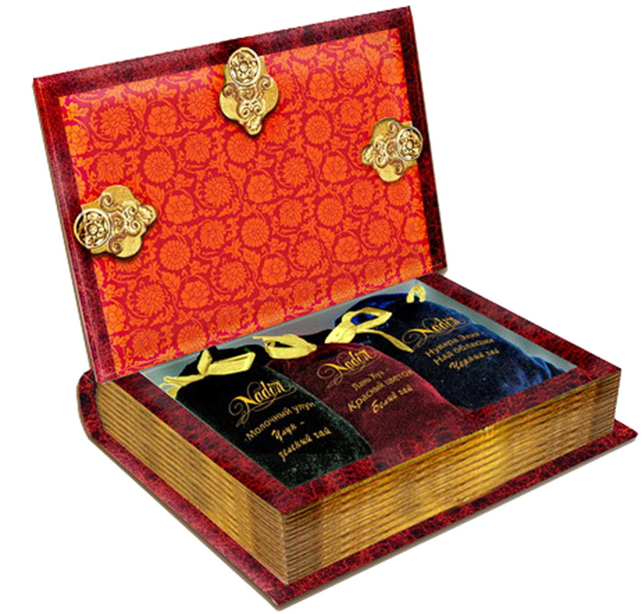 Nadin Книга чайное ассорти, 225 г beta tea де люкс крупнолистовой чай 225 г подарочная упаковка
