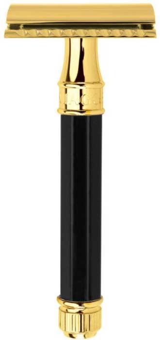 Edwin Jagger Станок Т-образный, цвет: черная смола, золото. DE86811GBL