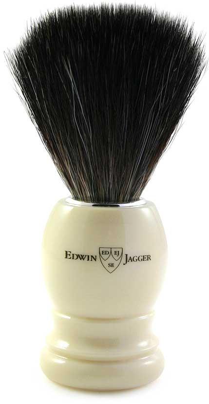 Edwin Jagger Помазок, искусственный ворс, цвет: слоновая кость. 21P37 цена и фото