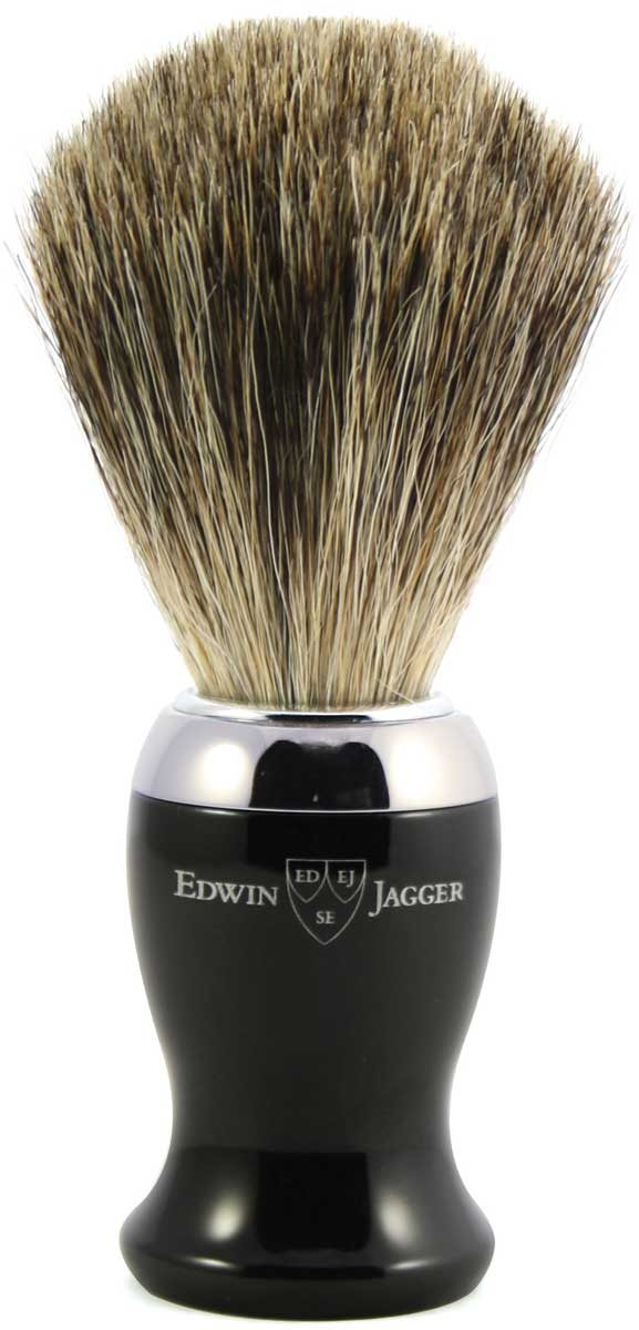 Edwin Jagger Помазок, барсучий ворс, цвет: черная смола. 81SB716CR цена и фото