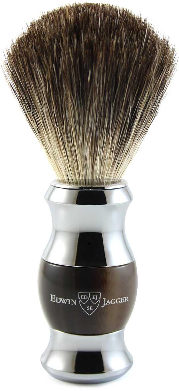 Edwin Jagger Помазок, барсучий ворс, цвет: темно-коричневый. 81SB352CR цена и фото