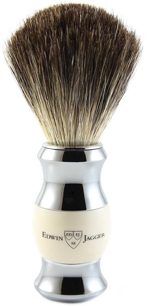 Edwin Jagger Помазок, барсучий ворс, цвет: слоновая кость. 81SB357CR цена и фото