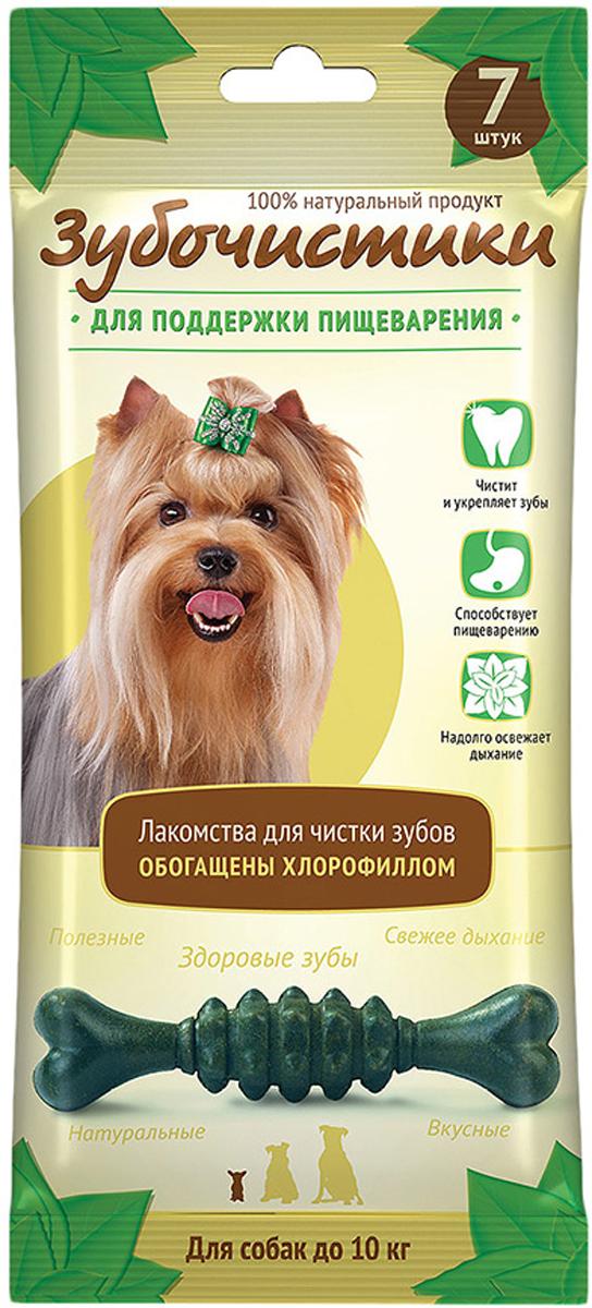 Лакомство Зубочистики Мятные для собак мелких пород, для поддержания пищеварения, 7 шт рейтинг кормов для собак 2015
