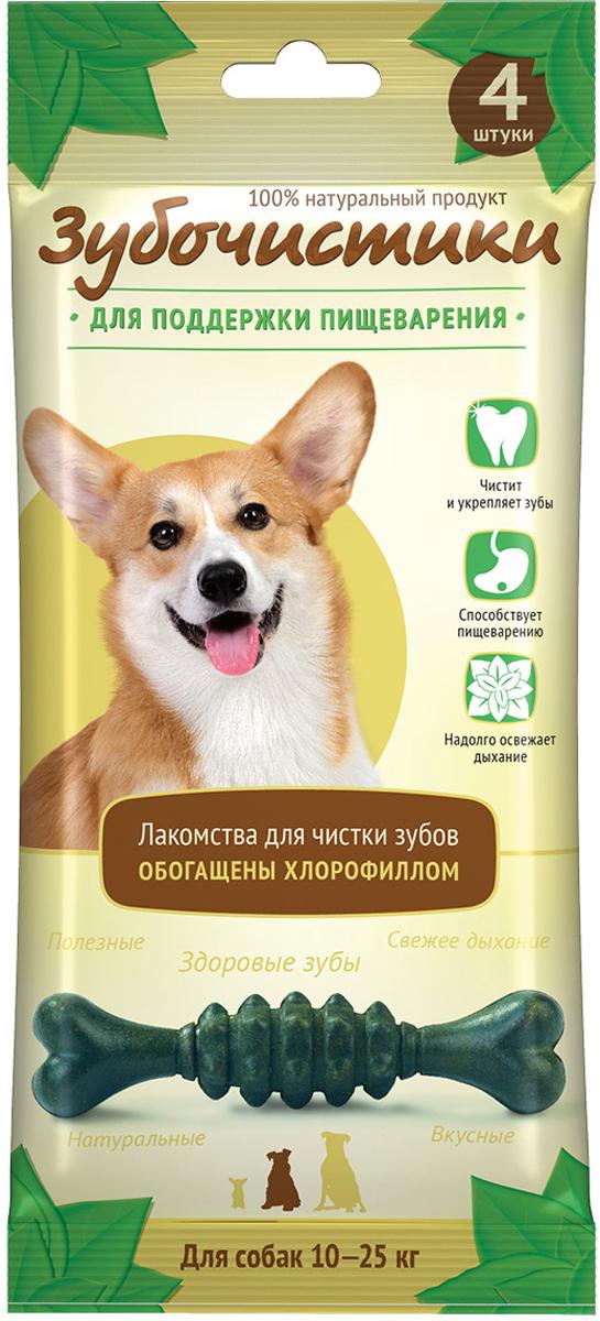 Лакомство Зубочистики Мятные для собак средних пород, для поддержания пищеварения, 4 шт компливит кальций д3 30 таблетки мятные