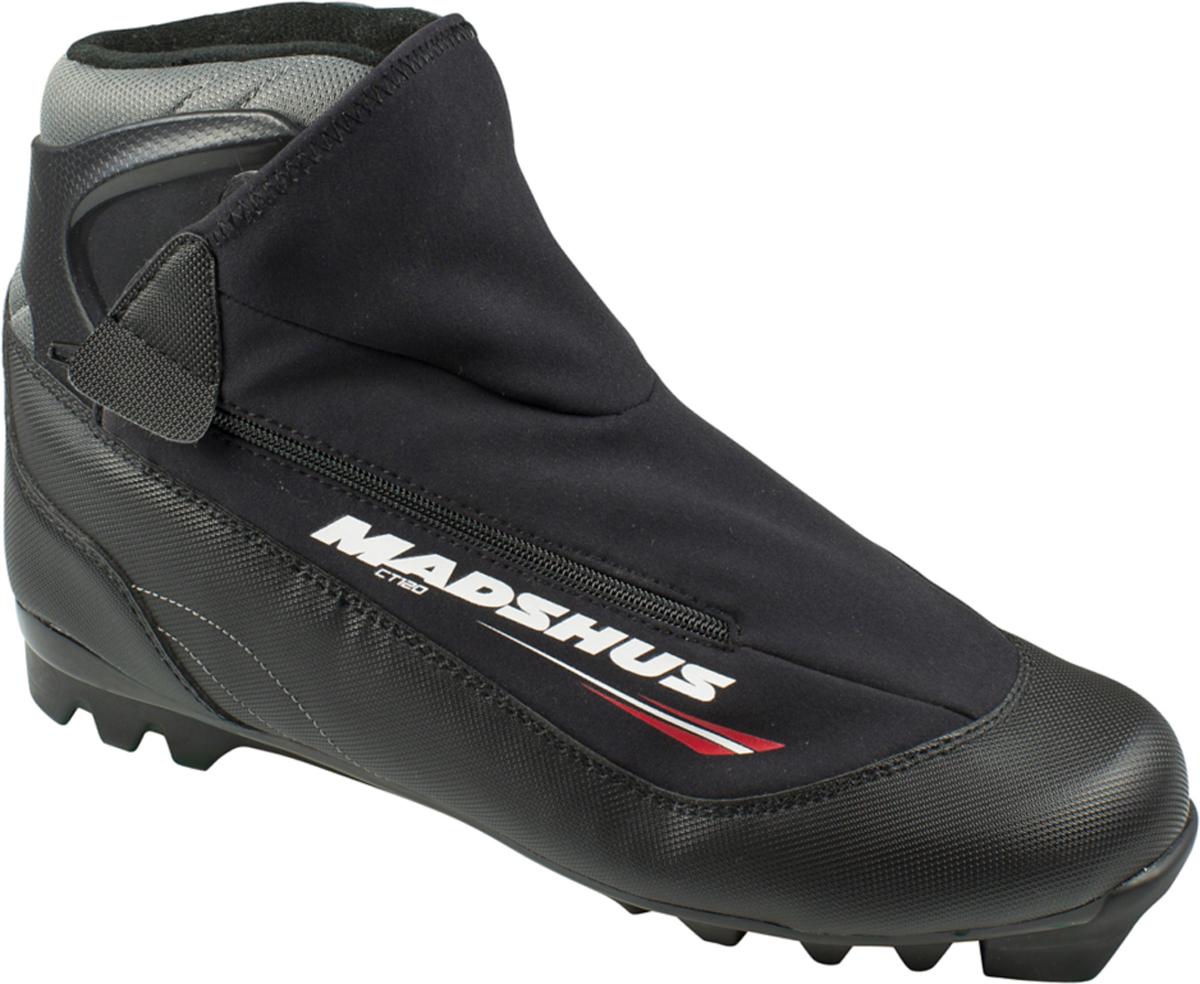 Ботинки лыжные Madshus CT120 Ski, цвет: черный. Размер 40N164009Новые лыжные ботинки Madshus CT120 Ski имеют классическую для прогулочных ботинок конструкцию, к которой добавлены вшитое усиленное голенище для лучшей поддержки голеностопа и инновационная софтшелл-конструкция внешнего ботинка. Новая конструкция обеспечивает более быструю шнуровку и лучшую фиксацию стопы. Внешний ботинок модели CT120 из софтшелл-материала MemBrain сохранит ваши ноги в тепле на протяжении всех долгих лыжных прогулок.