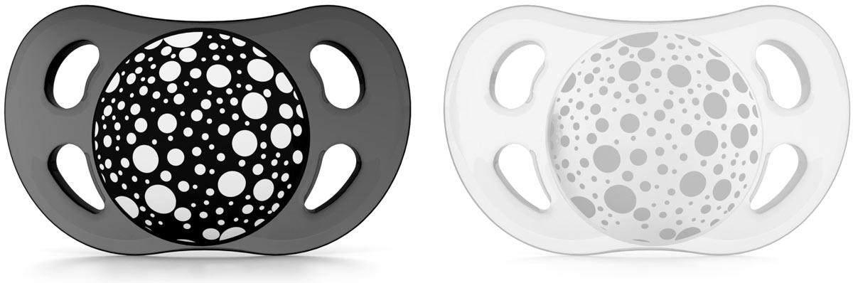 Twistshake Пустышка от 0 до 6 месяцев цвет черный белый 2 шт