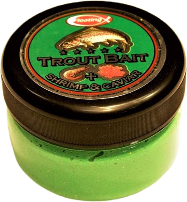 Паста форелевая FishBait Креветка & Икра, зимняя, цвет: зеленый, 75 мл