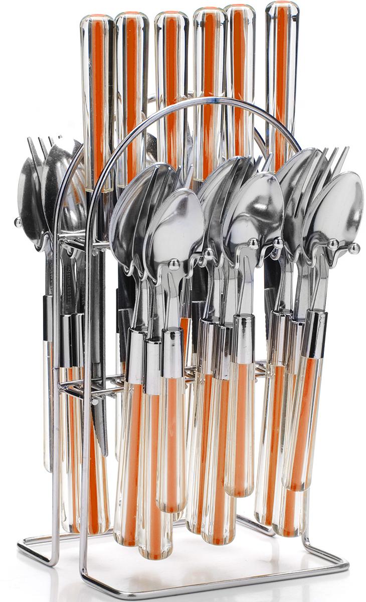 """Набор столовых приборов """"Mayer & Boch"""", цвет: оранжевый, 25 предметов. 22489-4"""