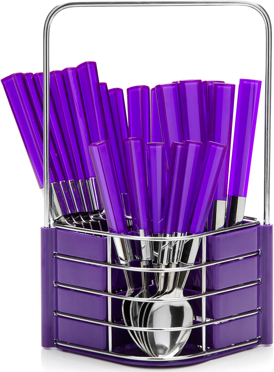 """Набор столовых приборов """"Mayer & Boch"""", цвет: фиолетовый, 25 предметов. 23241-1"""