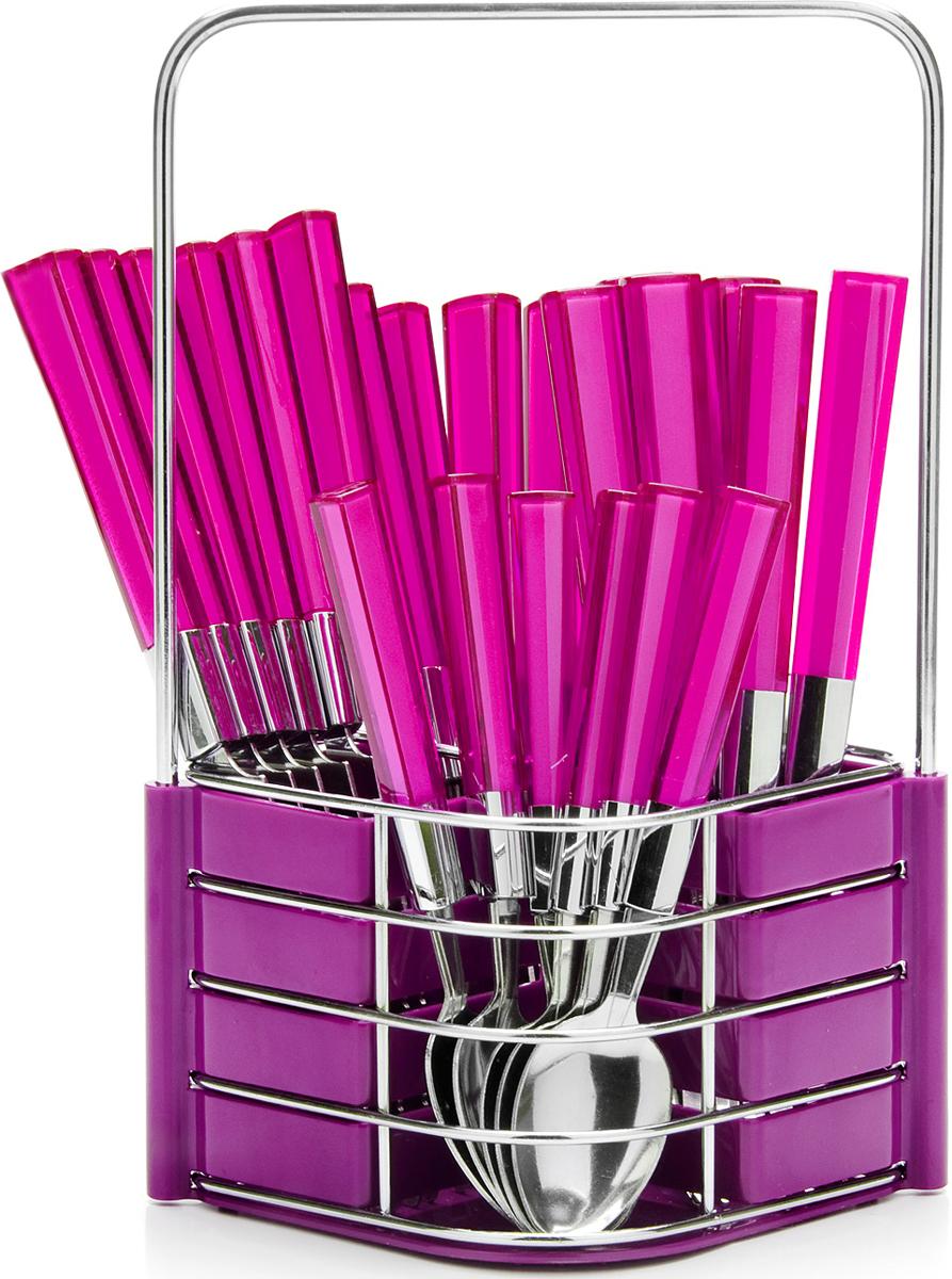 """Набор столовых приборов """"Mayer & Boch"""", цвет: фуксия, 25 предметов. 23241-2"""