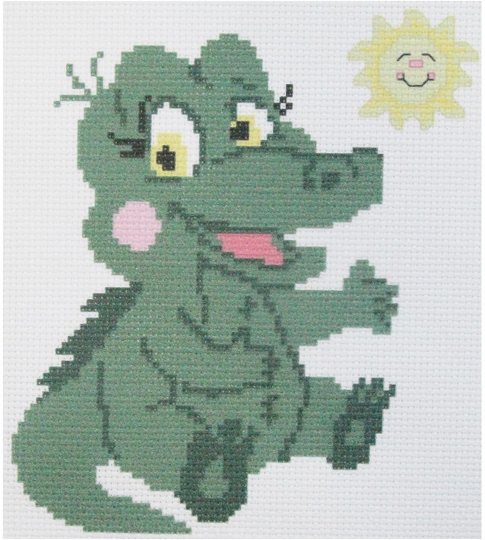 Набор для вышивания крестом Hobby&Pro Крокодильчик, 22 х 22 см набор для вышивания крестом hobby