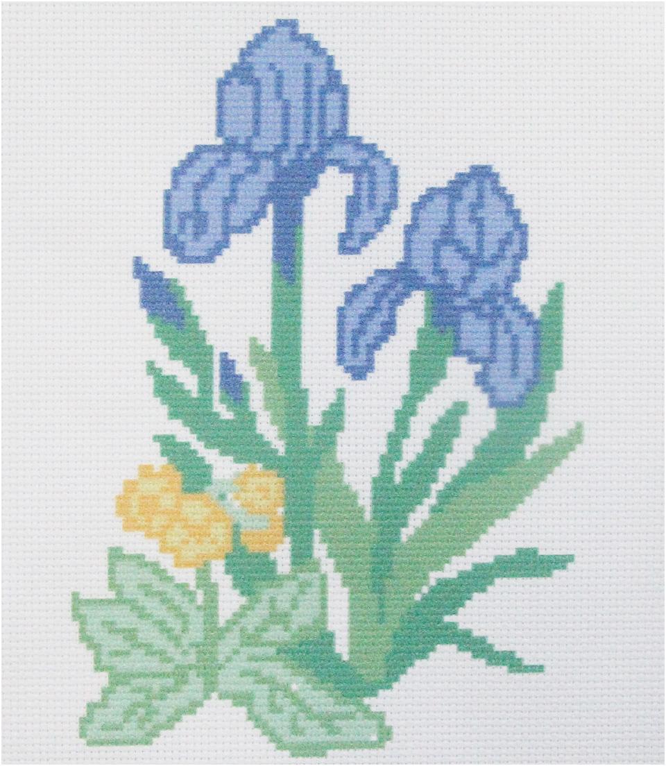 Набор для вышивания крестом Hobby&Pro Ирисы, 22 х 22 см набор для вышивания крестом hobby