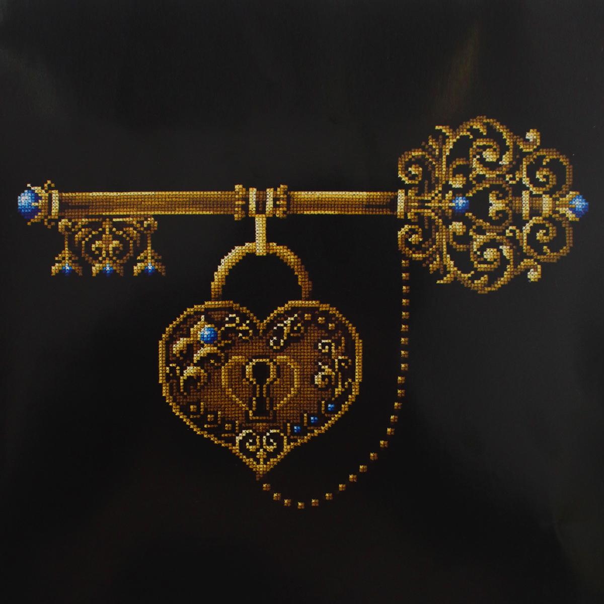 Набор для вышивания крестом Сделай своими руками Ключ счастья, 26 х 35 см набор для вышивания крестом сделай своими руками ключ счастья 26 х 35 см
