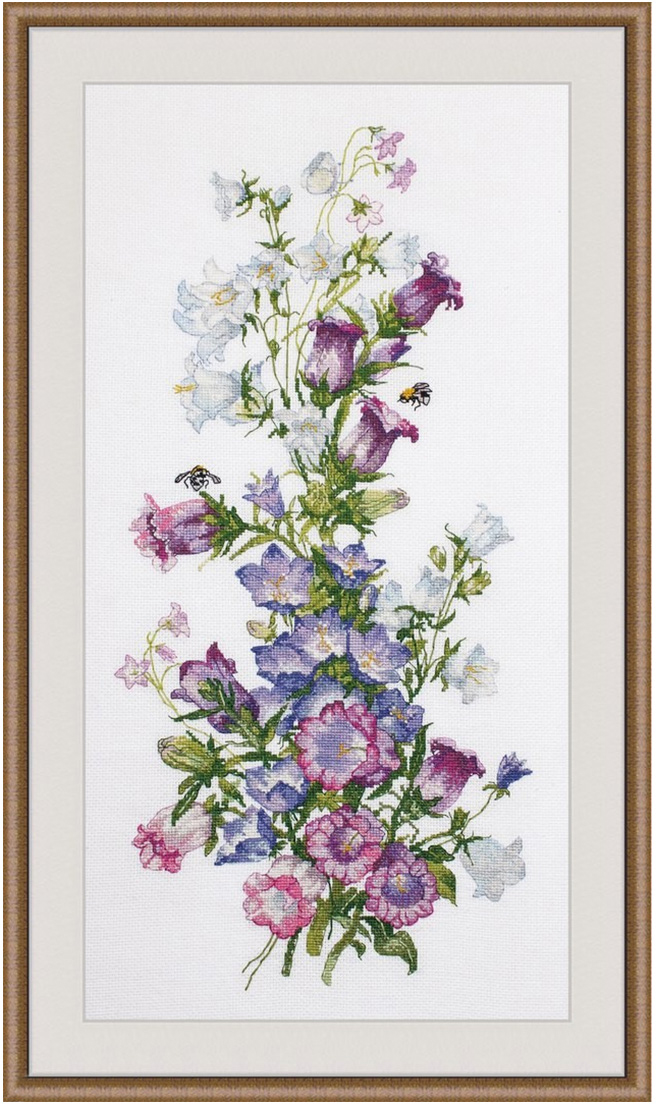 Набор для вышивания крестом Овен Весенняя композиция, 44 х 20 см набор для вышивания крестом овен совушка глаша 16 х 19 см