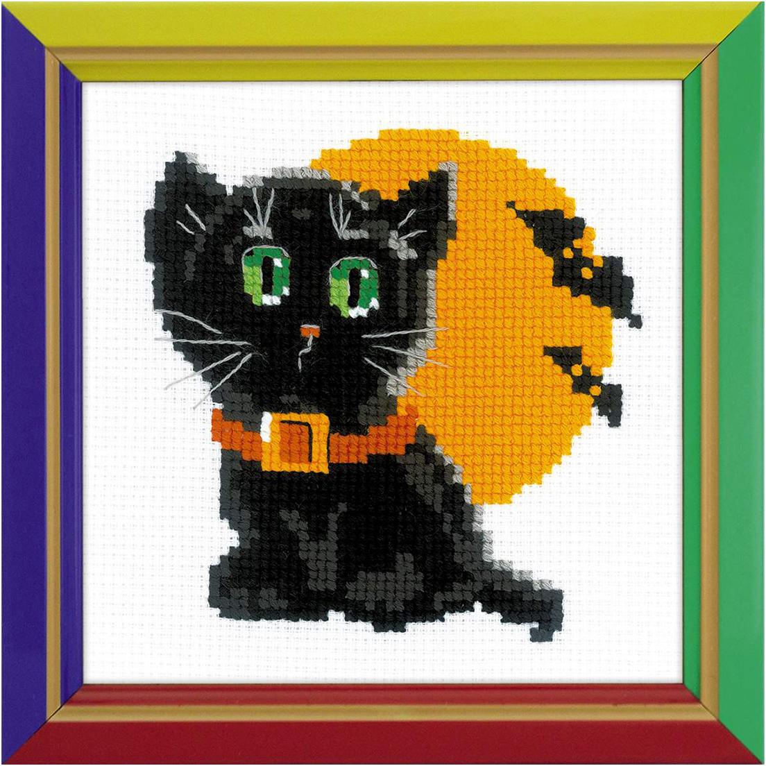 Набор для вышивания крестом Риолис Черный кот, 15 х 15 см552125Красивый рисунок-вышивка, выполненный на канве, выглядит оригинально и всегда модно. Работа, сделанная своими руками, создаст особый уют и атмосферу в доме и долгие годы будет радовать вас и ваших близких. Набор для вышивания Риолис содержит все необходимые материалы для вышивания в технике счетный крест. В состав набора входит: - канва, - нитки-мулине, - игла для вышивания, - схема, - инструкция.