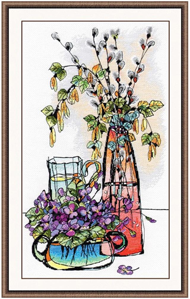 Набор для вышивания крестом Овен Стеклянная фантазия 2, 40 х 22 см набор для вышивания крестом овен наш цветочек 23 х 24 см