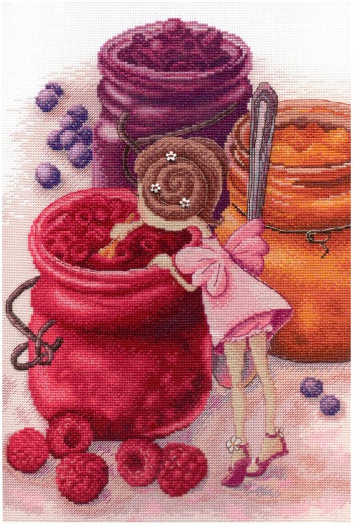 """Набор для вышивания крестом МП Студия """"Фея ягодного варенья"""", 30 х 20 см"""