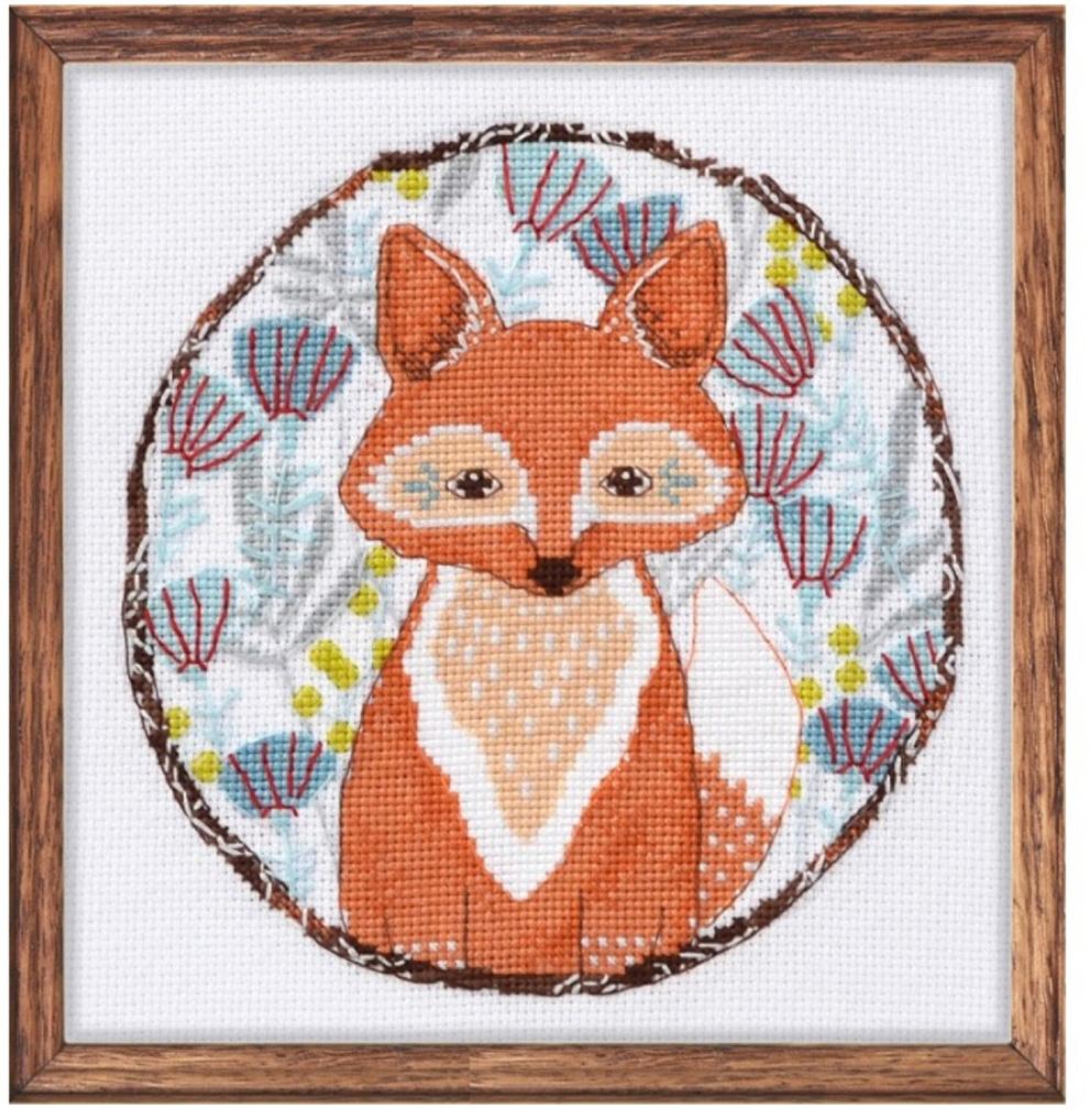 Набор для вышивания крестом Овен Лисичка, 15 х 15 см набор для вышивания крестом овен наш цветочек 23 х 24 см