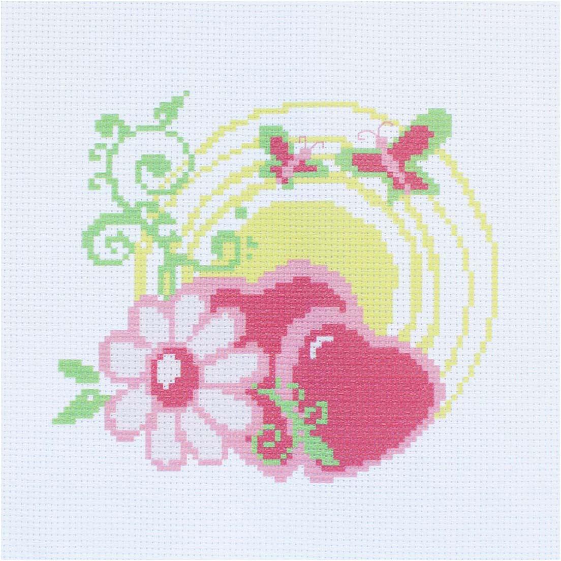 Набор для вышивания крестом Hobby&Pro Сердечки, 22 х 22 см набор для вышивания крестом hobby