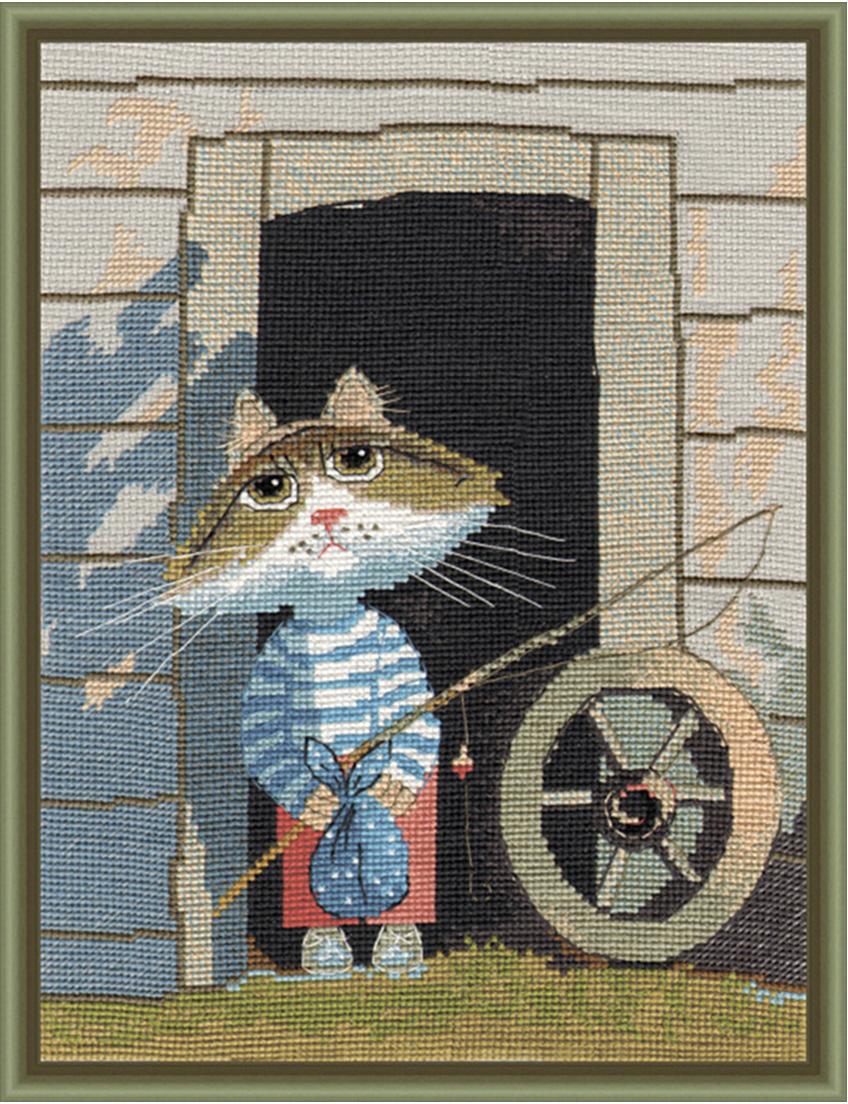 Набор для вышивания крестом Овен Рыбачок, 27 х 20 см набор для вышивания крестом овен наш цветочек 23 х 24 см