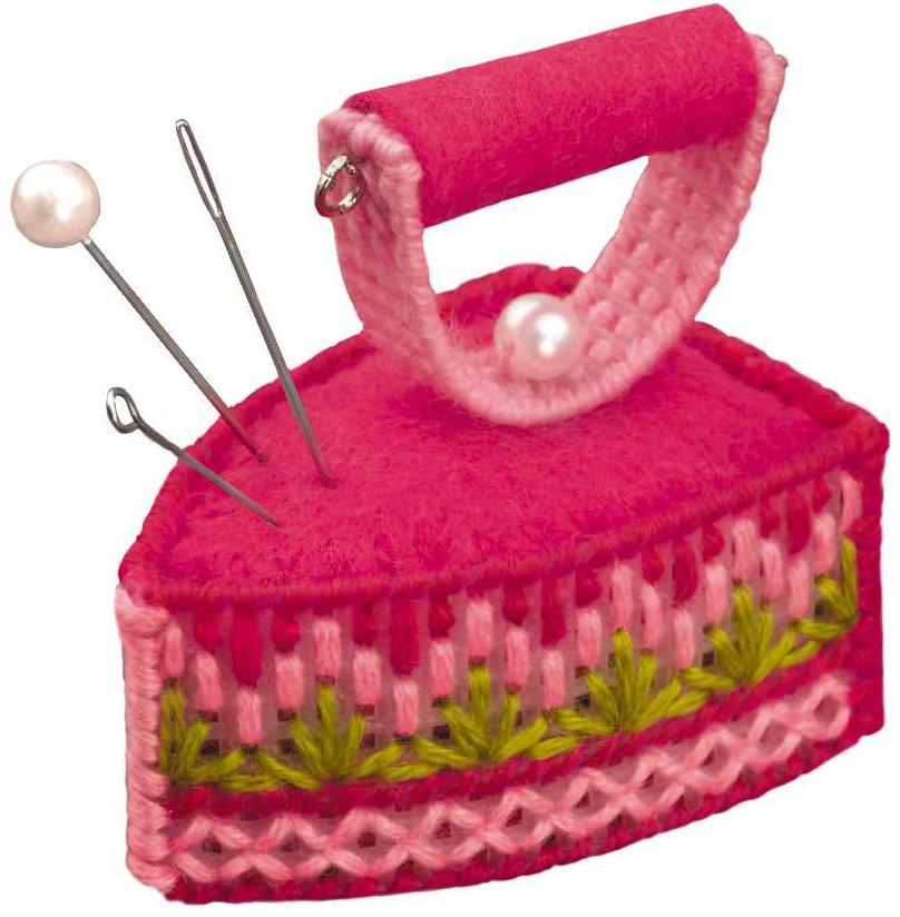 Набор для вышивания крестом Риолис Бискорню. Игольница. Утюжок, 5,5 х 3,5 х 5 см шитье для новорожденных своими руками