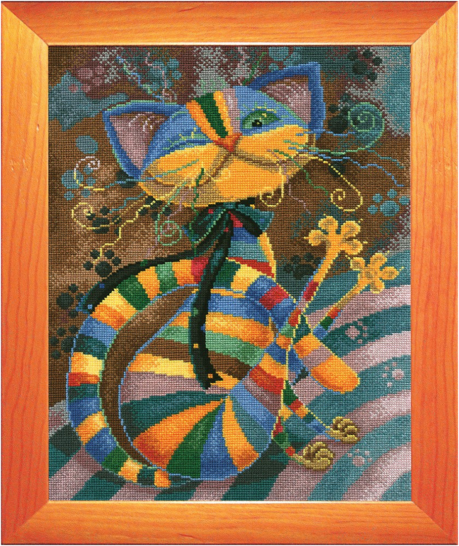 Набор для вышивания крестом Р-Студия Кот, 35 х 28 см акварель художественная студия в кюветах 18 цветов
