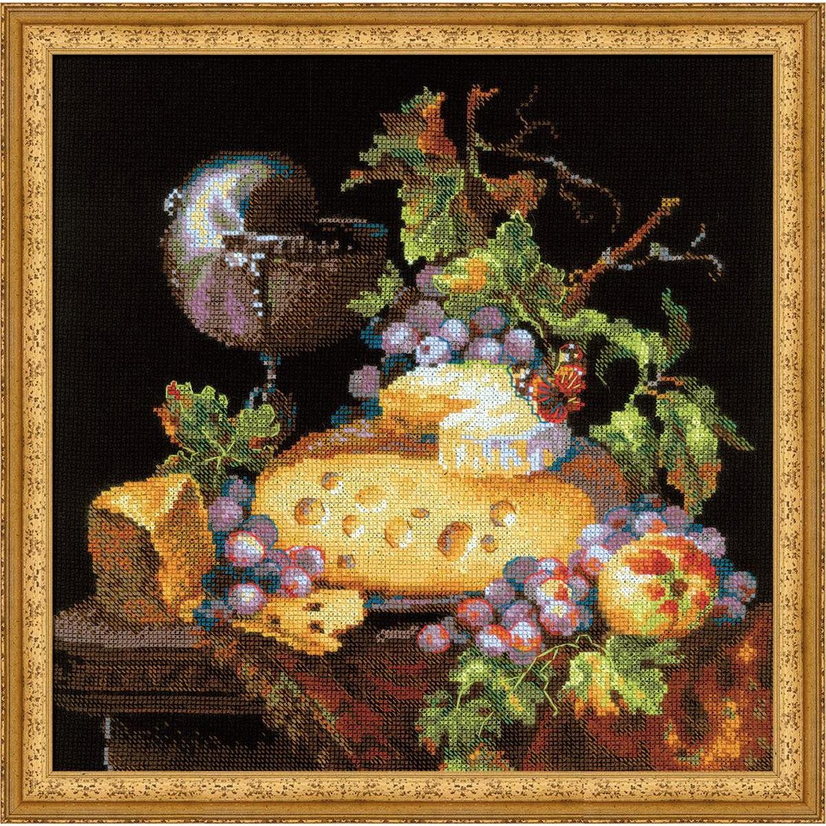 Набор для вышивания крестом Риолис Голландский натюрморт, 30 х 30 см набор для вышивания крестом riolis акварельные герберы 30 x 30 см 1485