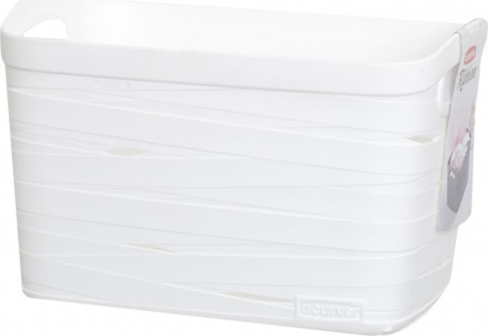 Корзина для белья Curver Ribbon, цвет: белый, 27 x 21 x 17 см корзина для белья curver ribbon цвет фиолетовый 24 x 17 x 12 см