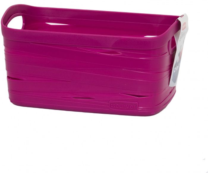Корзина для белья Curver Ribbon, цвет: фиолетовый, 24 x 17 x 12 см корзина для белья curver ribbon цвет фиолетовый 24 x 17 x 12 см