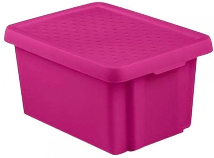 Коробка для хранения Curver Essentials, с крышкой, цвет: фиолетовый, 16 л цена