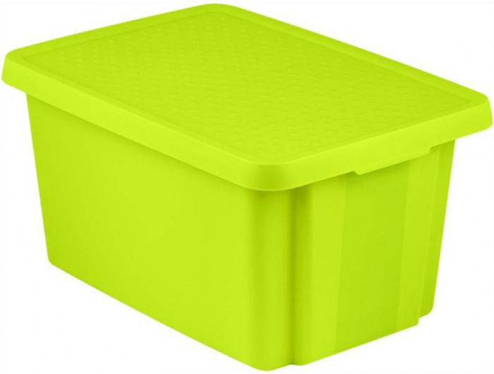 Коробка для хранения Curver Essentials, с крышкой, цвет: зеленый, 45 л цена