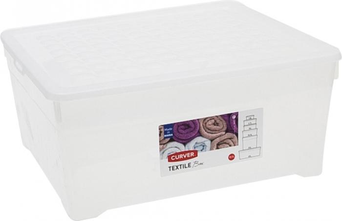 Ящик для хранения Curver Textile, цвет: прозрачный, 18,5 л ящик для хранения plast team premium цвет прозрачный 60 л