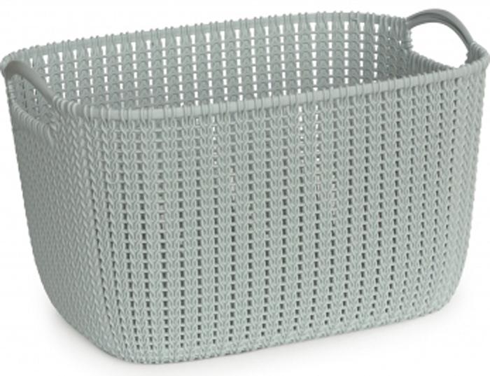 Фото - Корзина универсальная Curver Knit, цвет: голубой, 19 л корзина для хранения curver knit 3 л прямоугольная голубой