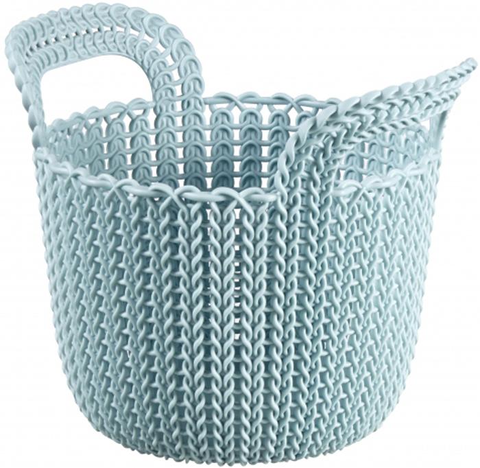 Корзина универсальная Curver Knit, цвет: голубой, 3 л. 03671-X60-00 корзина для белья curver knit цвет серый 57 л