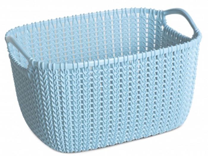 Фото - Корзина универсальная Curver Knit, цвет: голубой, 8 л корзина для хранения curver knit 3 л прямоугольная голубой