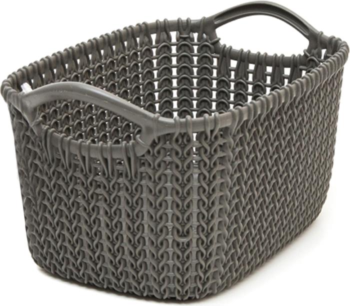Фото - Корзина универсальная Curver Knit, цвет: темно-коричневый, 3 л корзина для хранения curver knit 3 л прямоугольная голубой