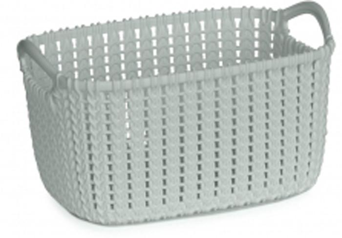 Корзина универсальная Curver Knit, цвет: голубой, 3 л. 03675-X60-00 корзина для белья curver knit цвет серый 57 л