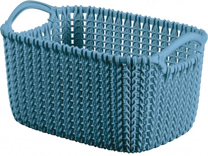 Фото - Корзина универсальная Curver Knit, цвет: морская волна, 3 л корзина для хранения curver knit 3 л прямоугольная голубой