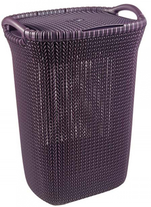 Корзина универсальная Curver Knit, цвет: фиолетовый, 57 л корзина для белья curver knit цвет серый 57 л