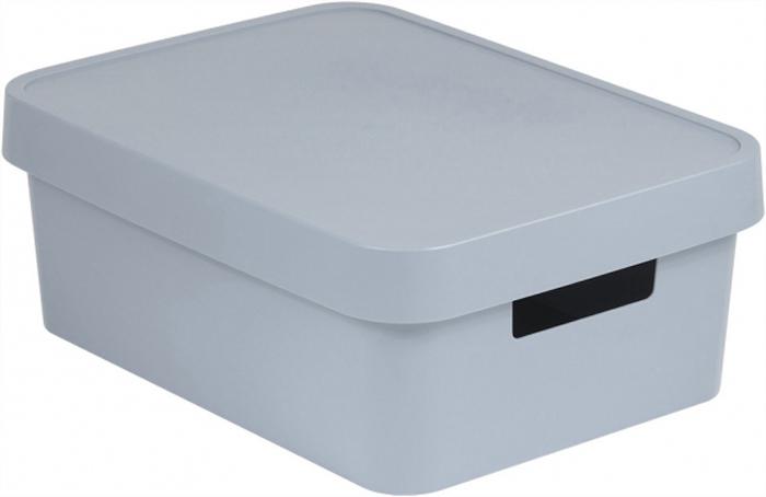 Коробка для хранения Curver Infinity, с крышкой, цвет: серый, 11 л цена