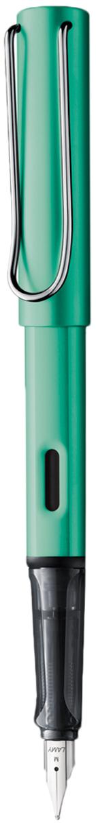 Lamy Ручка перьевая Al-Star синяя цвет корпуса зеленый толщина F lamy ручка перьевая lux цвет корпуса серый металлик толщина f