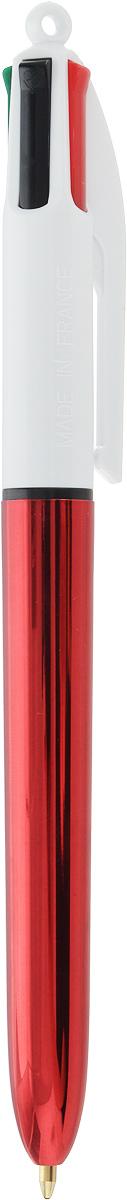 BIC Ручка шариковая 4 Colours Shine Новогодняя цвет корпуса красный ручка шариковая bic 4 colours fine автоматическая 0 36 мм 4 цвета