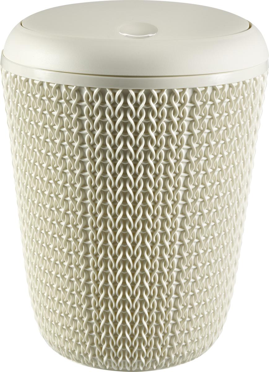 Контейнер для мусора Curver Knit, цвет: белый, 6 л контейнер для мусора tescoma clean kit настольный цвет белый 2 4 л