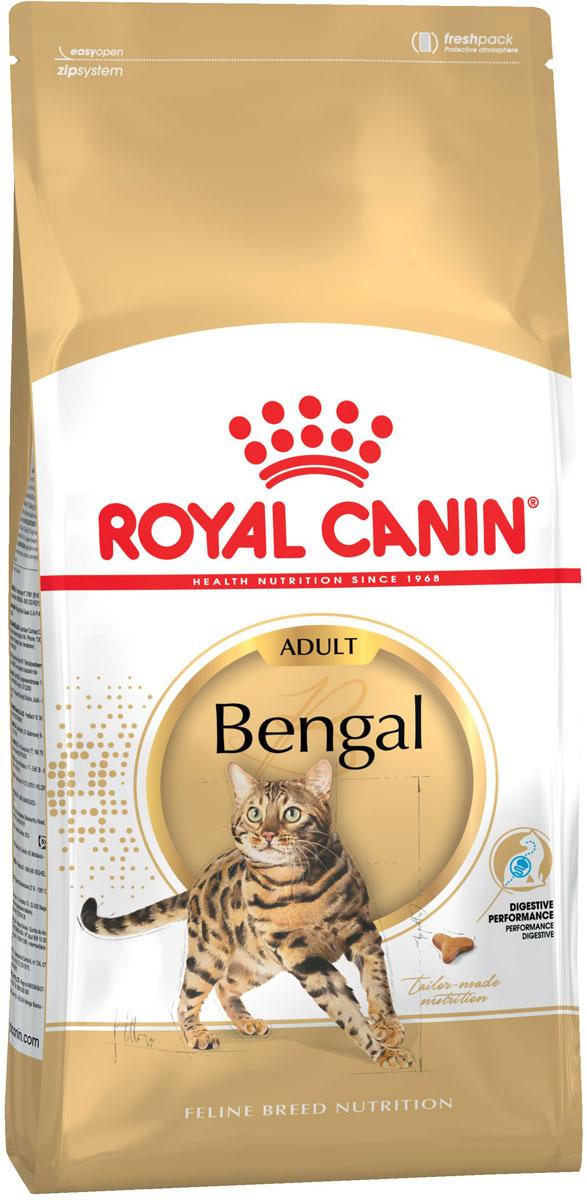 """Сухой корм Royal Canin """"Bengal"""", для взрослых бенгальских кошек старше 12 месяцев, 400 г"""