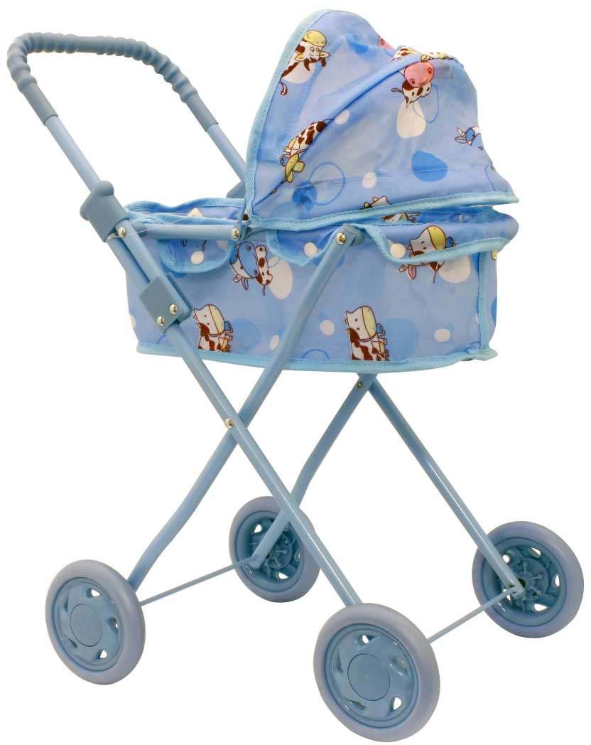 1toy Транспорт для кукол Коляска-люлька цвет голубой Т53129