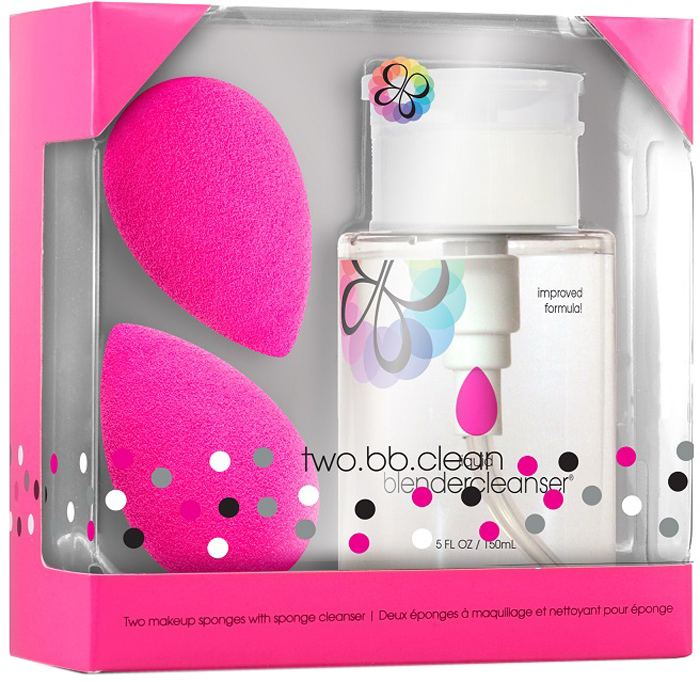 "Beautyblender Спонж для макияжа ""Original"", 2 шт + очищающий гель ""Blendercleanser"", 150 мл"