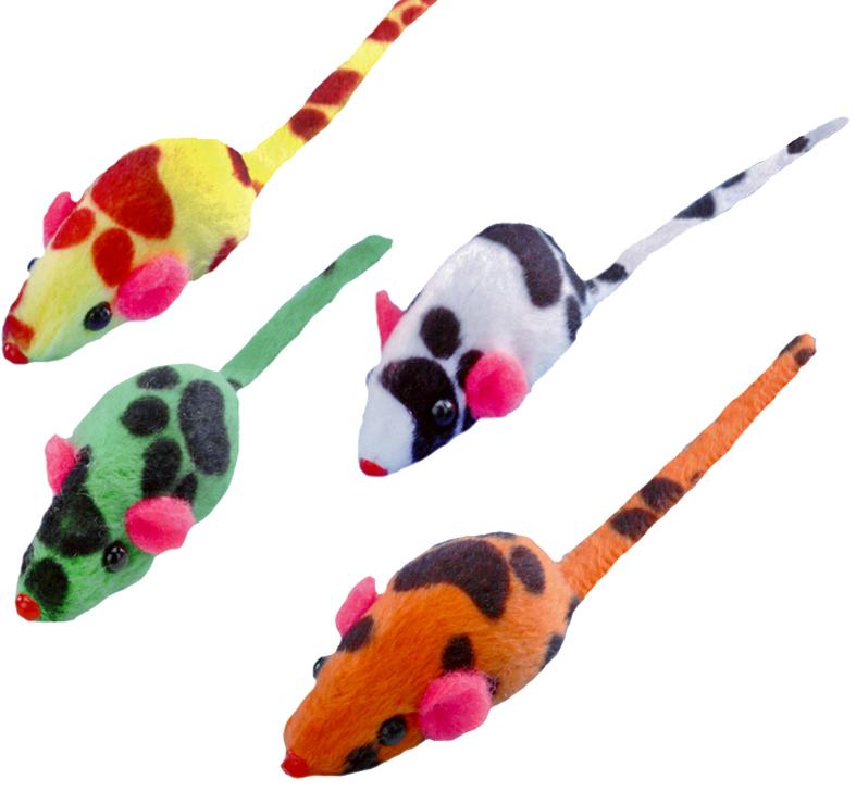Набор игрушек для животных Nobby Мышка, 4 см, 4 шт набор игрушек для животных hagen catit