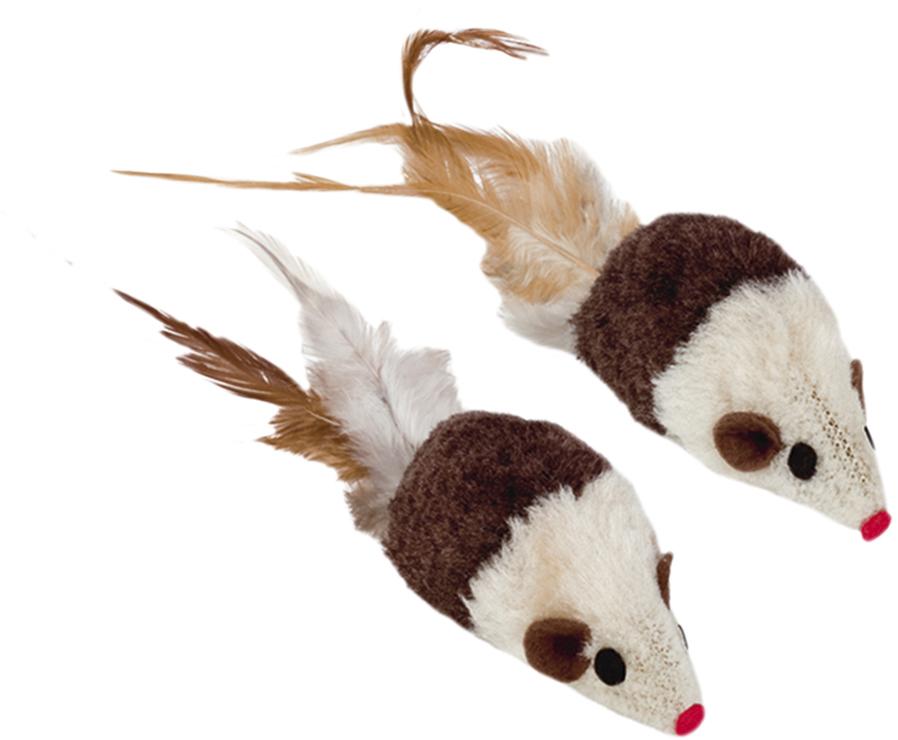 Набор игрушек для животных Nobby Мышка, с запахом кошачьей мяты, 2 шт набор игрушек для животных hagen catit